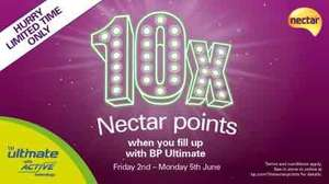 10x Necter points with BP ultimate This weekend only @ BP