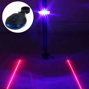 LED Lamp Bicycle Night Warning Light with Double Laser Lines  - BLUE £1.58 Delivered @ Gearbest