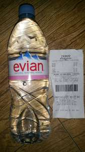Evian Mineral Water, 1 litre, Store Specific, Tesco Trongate Express, Glasgow @ 34p