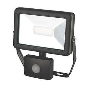 20W Slimline LED Floodlight with PIR Black for outdoor - £14.99 @ Screwfix
