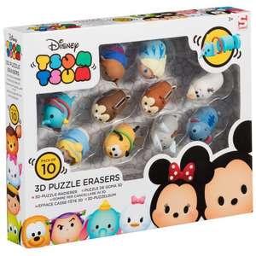 Disney Tsum Tsum 10 pk 3d Puzzle Rubbers - £2.50 instore @ Tesco Accrington