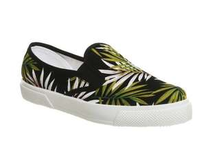 Office Kicker Slip On Trainers Black Green Leaf - £14 @ Office (free C+C / £3.50 delivery)