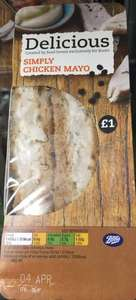 £1 sandwiches e.g Chicken&mayo, tuna and cheese&onion instore @ Boots