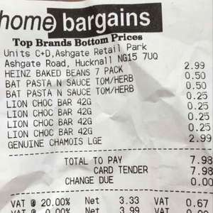 Heinz baked beans X7 cans £2.99 instore @ Home bargains