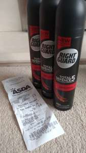 Men's deodorant, 3 for £1.50 instore at Asda (usually £2 each in tesco)