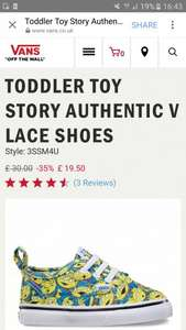 Toy story and Nintendo Vans starting from £19.50 Free delivery with £35+ spend at Vans