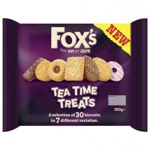 FOX'S TEA TIME BISCUITS 350G 10p @ Poundstretcher