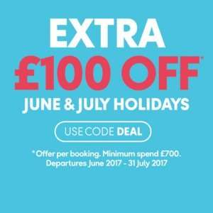 Extra £100 off June & July holidays @ Thomas cook