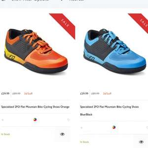 Specialized 2FO flat mtb mountain bike shoes / trainers Orange or sky blue (men's Eu sizes 42,43,44,45) now only £39.99 @ Rutland cycles