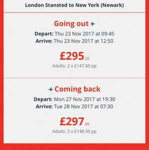 London Stansted to New York with Jet2 £296.10 return @ Jet2