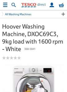 Hoover Washing Machine, DXOC69C3, 9kg, 1600 rpm  INCLUDING installation & removal £284 @ Tesco direct