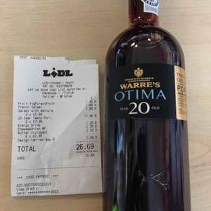 Warre's Otima 20 year old tawny port. £7.99 instore @ Lidl