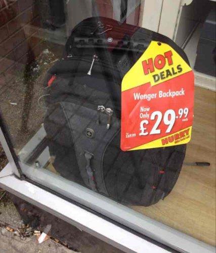 Wenger Legacy backpack £29.99 instore @ Rymans