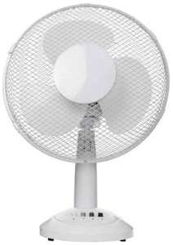 """Vida 12"""" Desk Fan - White £9.98 Free C&C @ ebuyer"""