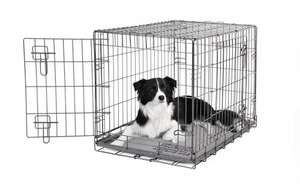 Dogit 2 Door Wire Cage/ Home, 77 x 48 x 54.4 cm, Black @ Amazon for £26.99