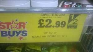 Natures Way Extra Virgin Coconut Oil 454g £2.99 in home bargains
