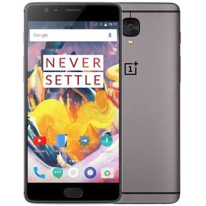 OnePlus 3T Global Version 4G Phablet  - GLOBAL VERSION GRAYx09203736005 6GB RAM 64GB ROM Snapdragon 821 16MP Front Camera use code MMPLUS3T to get phone for £318.26 @ gearbest