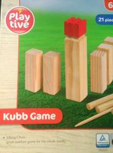 Kubb game £10 in Lidl