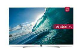 "JOHN LEWIS LG OLED55B7V OLED HDR 4K Ultra HD Smart TV, 55"" with Freeview Play, Dolby Atmos, Picture-On-Metal Design & Crescent Stand, Silver with free LG UP970 Blu-ray player and 5 year guarantee. What Hi-Fi five star rated TV. £2999"