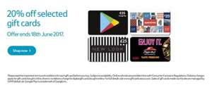 Tesco Giftcards - 20% off Google Play, GAP, New Look and Pizza Hut - instore and online