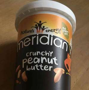 MERIDIAN 1LB 454G SMOOTH OR CRUNCHY PEANUT BUTTER - £2 @ ASDA