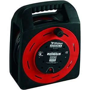 Wickes Easi Reel Cable Reel - 4 Sockets 25m 13A - £15.99 - Click&Collect @ wickes