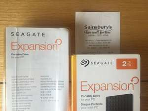 Seagate 2TB portable HDD £39.50 in store in Sainsbury's