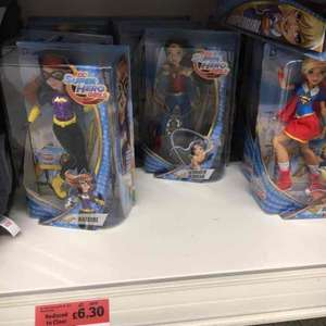 DC super hero dolls £6.30 in store at Sainsbury's