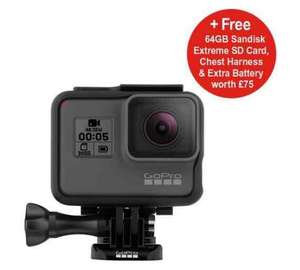 GoPro HERO5 Black 4K LCD Action Cam + GoPro Chesty Chest Harness + GoPro Hero 5 Rechargeable Battery + SanDisk Extreme 90MBs MicroSD 4K Ready Memory Card - 64GB £359.99 @ Argos