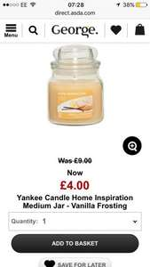 Yankee Candle Home Inspiration Medium Jar - Vanilla Frosting £4 Asda - Free C&C