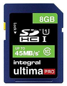 Integral UtlimaPro 8gb SDHC or MicroSDHC UHS-I Class 10 or USB 3.0 8gb Stick £3 instore / C+C @ Wilko