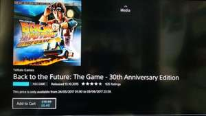 Back to the future 30th anniversary edition £6.49 PSN