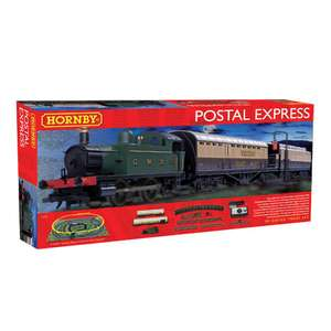 Hornby Postal Express train set was £120 now £60 plus Scalextric American Classics set was £130 now £65 @ Tesco Direct