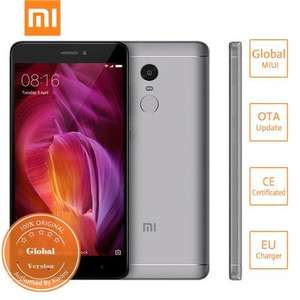 Xiaomi Redmi Note 4 5.5 inch 4G 4GB 64GB Snapdragon 625 (Band 20) £132.59 @ Geekbuying