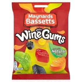 Maynards Wine Gums, Midget Gems & Berties  Jelly Mix 39p each instore @ Farmfoods