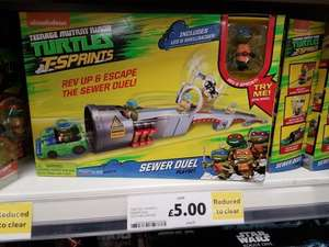 Turtle T-Sprints Sewer Duel playset was 19.95 now £5 in store only at TESCO. Likely national.