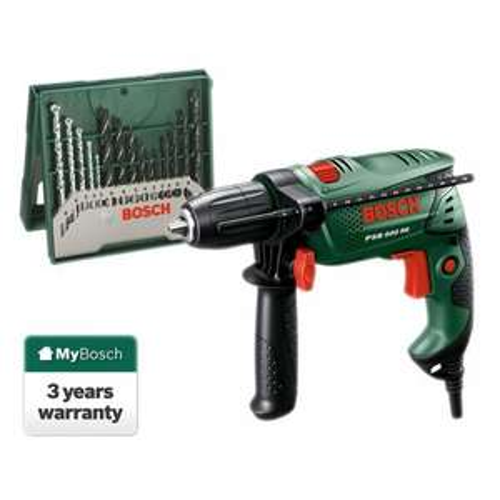 Bosch PSB 500RE Hammer Drill and 15-Piece Accessory Set £34.99 @ Robert Dyas (using code)