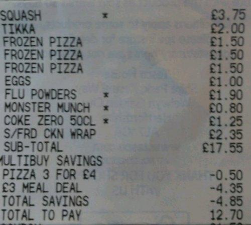 Tesco Meal Deal Glitch - 5p instore