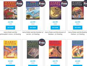 Pre-Loved Harry Potter Paperbacks Books 1-7 £14.45 @ Music Magpie