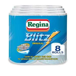 Regina Blitz Household Towels - Pack of 4, Total 8 - £6 Amazon Prime Exclusive