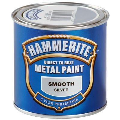 Hammerite metal paint, silver, instore tesco, 1litre £6