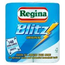 Regina Kitchen Towels Blitz 2 Rolls - £1.50 @ Tesco