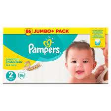 Pampers size 2 86 jumbo pack £6.29 per box (MIN order 2 boxes total £12.58 ) Costco
