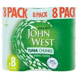 John West 8 can pack tuna - sunflower oil/brine/spring water. £5 @ Morrisons