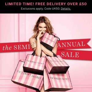 Up to 50% off @ Victoria's Secret (code UK50 Free del with £50+ spend)