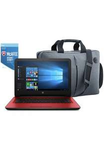 HP 14 Inch Intel Pentium 8Gram 2TB Laptop Red - Bag & McAfee £289 @ argos