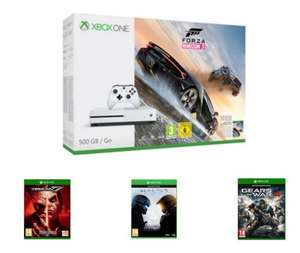 Xbox One S 500GB Forza Horizon 3 or Fifa 17 + Tekken 7 + Halo 5 + Gears of War 4 £249.99 @ Game