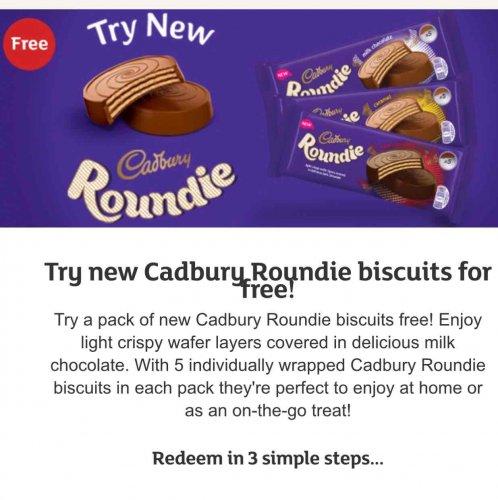 Free Cadbury Roundie biscuits online @ Sainsbury's