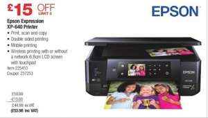Epson Expression XP-640 Printer £53.98 at Costco Instore ...£33.98 with Epson cashback