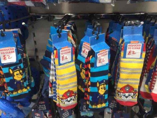 Paw Patrol Socks 3 pack - B&M - £2